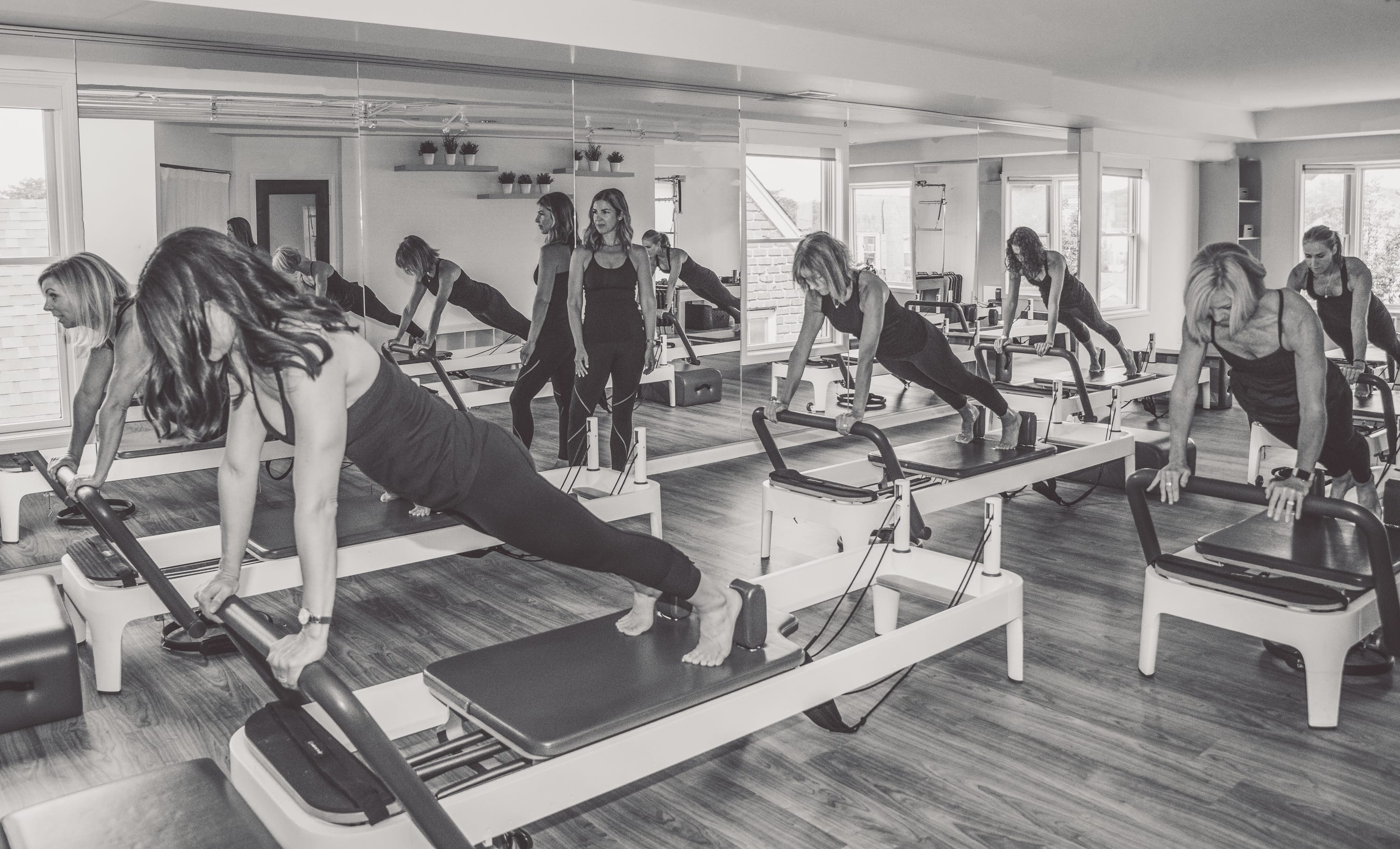 Energie Pilates Reformer Black & White Photo